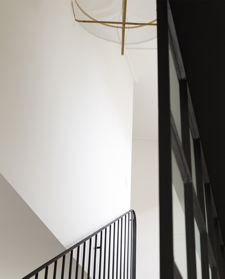Artistic shot of the stairs on white background