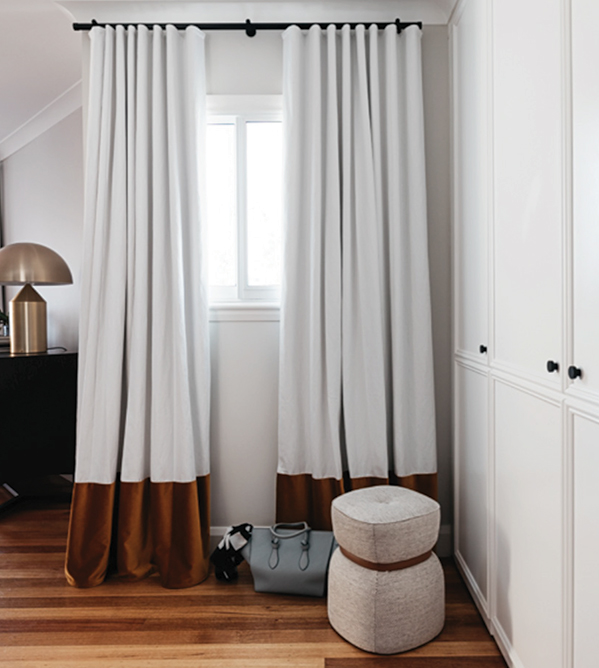 Tabbed curtain window styling