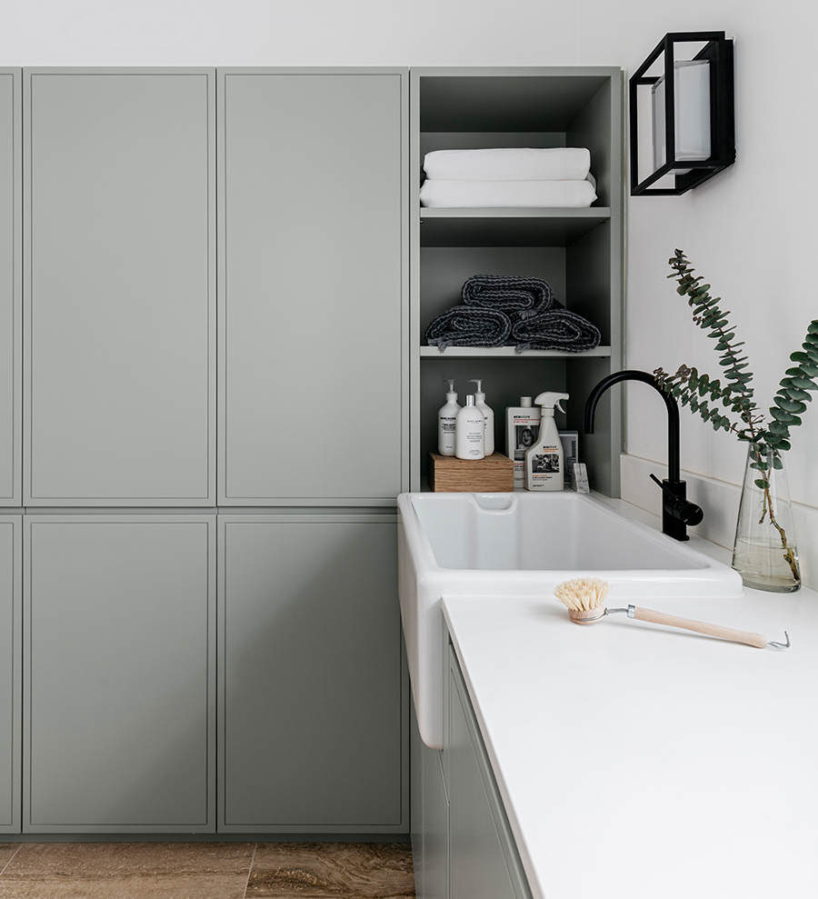 Clean & modern laundry room