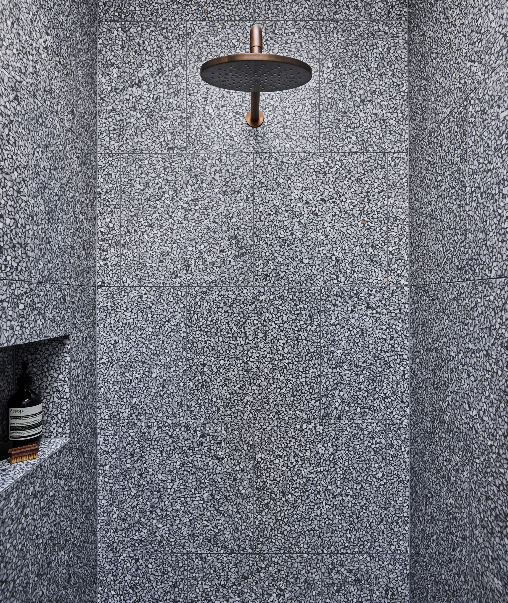 Black & grey textured shower