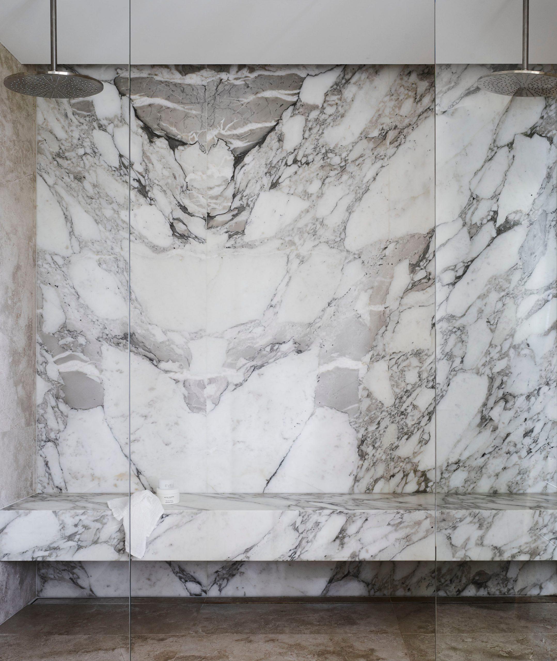 Marble & window shower