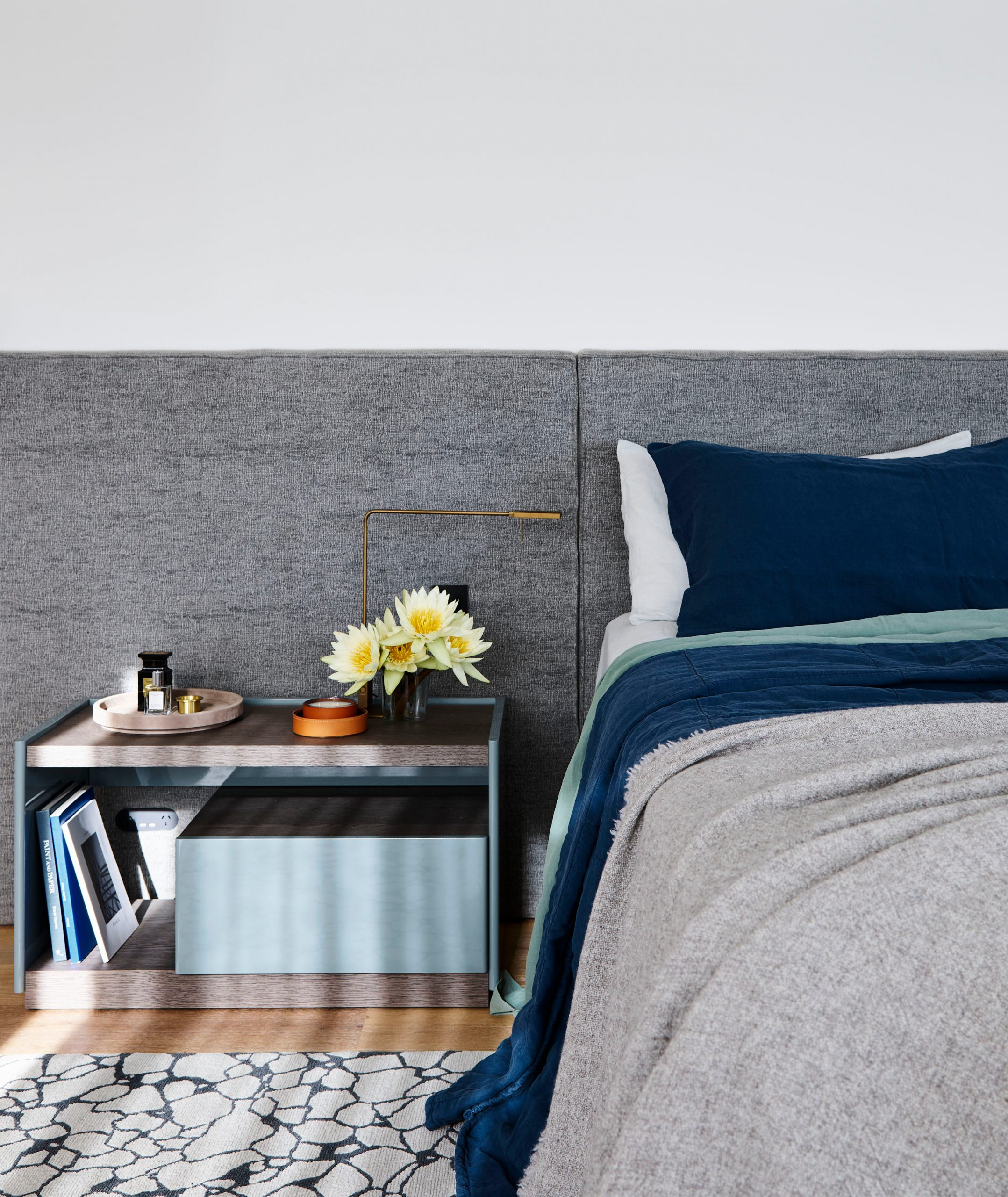 Bed & side table