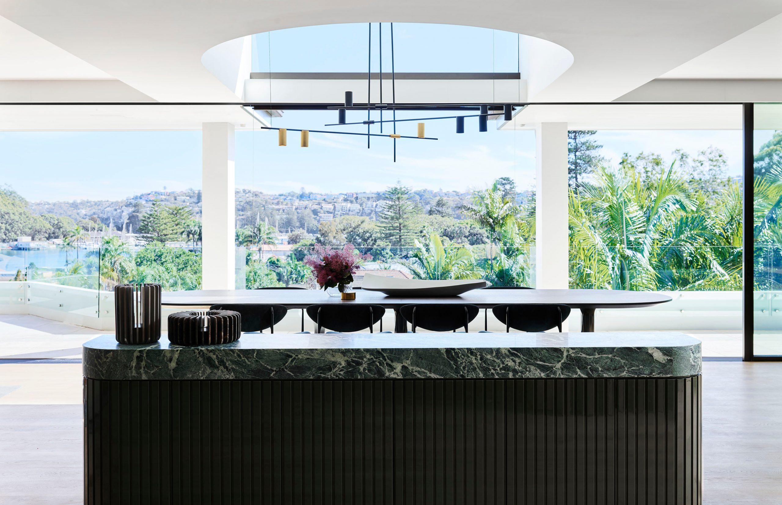 Open dining area & water view